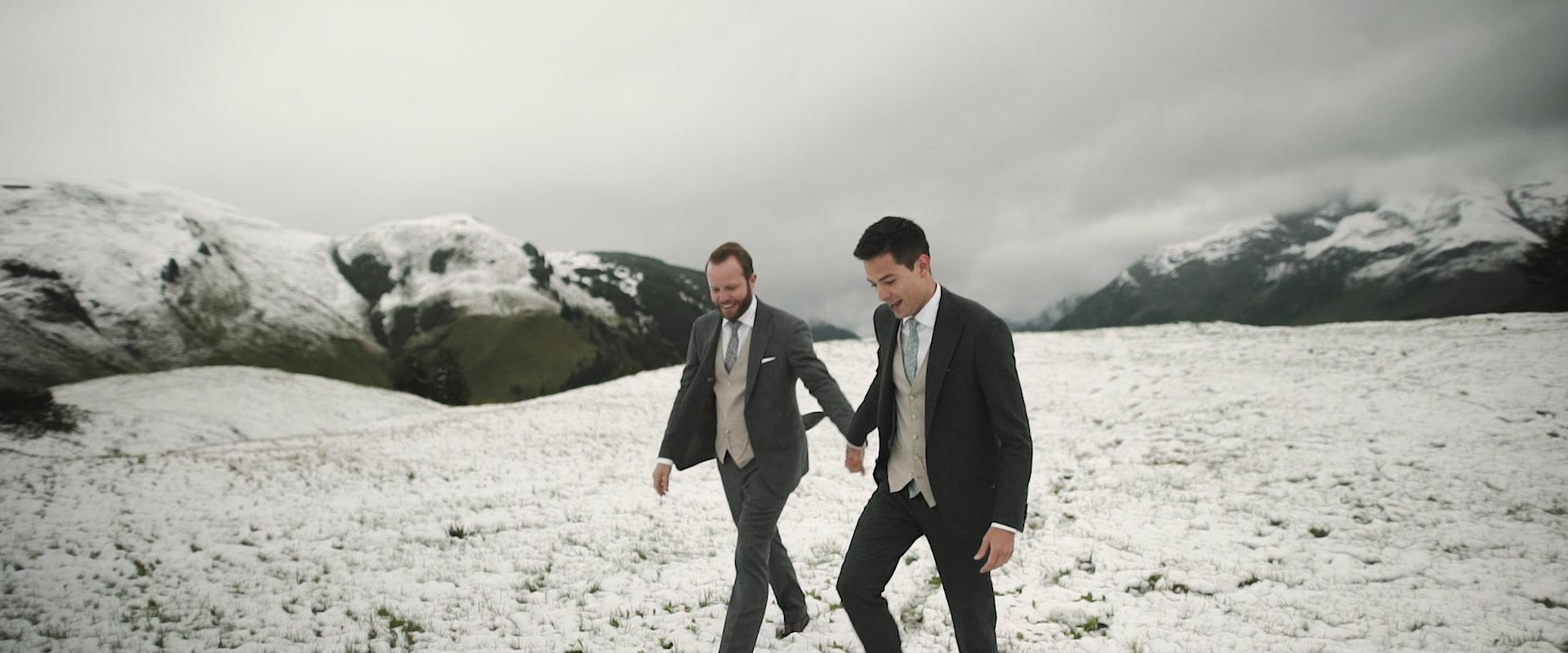 Mountain wedding film Lech Austria / Benny & Patrick